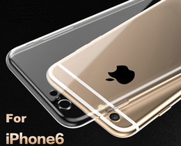 Wholesale For Apple iPhone6 Plus TPU Soft Case Protect Camera Cover Crystal Clear Transparent Silicon Ultra Thin Slim Shell for iPhone