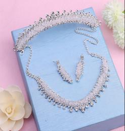 Rhinestone & Crystal Jewelry Set - Bride, Wedding, Bridesmaid Accessories
