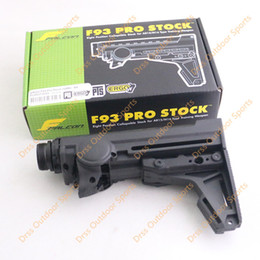 Wholesale Drss New Arrival ERGO F93 Pro Stock Eight Position Collapsible PTS Stock For AR15 M16 Type Training With GBB Buffer Tube Black DS1038A