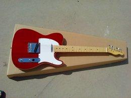 Guitarra roja de la tapa de la llama del tigre del hardware del cromo del fretboard del arce de la guitarra eléctrica del envío libre desde guitarras llama roja proveedores