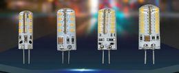 Wholesale 1Pcs SMD G4 W W W W LED Crystal lamp light DC V AC V Silicone Body LED Bulb Chandelier LED LED LED LEDs