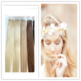 "Wholesale Cheap Keratin - Keratin tape hair extension & cheap pu tape hair extensions 18""-28"" 2.5g pc 40pc 100g lot no tangle no shedding"