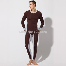 Wholesale High Quality Men s Sexy Lingerie Pajama Sets Sculpting Cotton Men Warm Winter Sexy Fashion Thermal Underwear Long sleeve Sleepwear