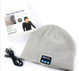 Sombreros casual para los hombres en venta-2017 Soft Beanie caliente Gorra de sombrero de música con auriculares estéreo de auriculares Altavoz Mic inalámbrico manos libres para hombres V887 regalo de las mujeres