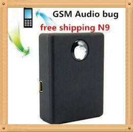 Wholesale GPS Mini N9 RealTime Listening Device Mini Spy Box SIM Card GSM Voice Tracker Auto Dialer Surveillance Device Car