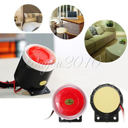 Wholesale Security Alarm For Laptops - 12V For DC Mini Wired Siren Horn For Wireless Home Alarm Security System House Office Protecting Sensors Free Shipping order<$18no track