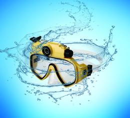 Scuba Series Dive Mask Waterproof Diving Sports Video Camera for Diving and Snorkeling-Yellow