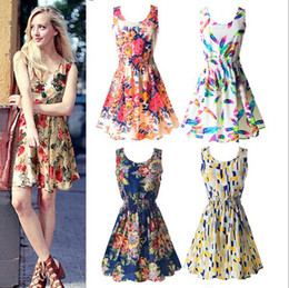 Wholesale Newest fashion Women Casual Dress Plus Size Cheap China Dress Designs Women Clothing Fashion Sleeveless Summe Dress