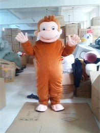 Wholesale 100 Real Images Suit Monkey Mascot Costumes Cartoon Adult Size Animal Monkey mascot EMS