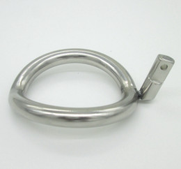 Wholesale Super Small Stainless Steel Male Chastity Device Cock Cages Additional Ring Cock Ring Size Choose Adult Sex BDSM Toys