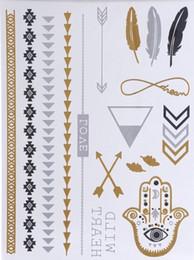 new sex product temporary tattoo necklace choker bracelet flash tatoo henna tatouage metalic gold tattoos fake body art
