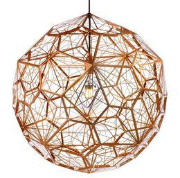 Wholesale 2015 Modern Designer Pendant Lights Dia cm Tom Dixon Etch Web Pendant Lamps Bedroom Lighting Copper