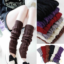 Wholesale-Woman Knitting Boot Cuffs Crochet Twisted Leg Warmers Adult Boot Socks Socks Gaiters Legwarmers Ladies Boot Toppers Boot Covers
