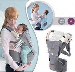 Wholesale 2015 Korean Newborn Infant Baby Carrier Multi fonction Waist Stool Baby Sling Front Facing Baby s Backpack Babies Supplies Black Gray K3908