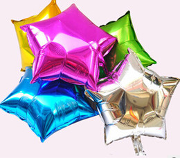 Wholesale Alphabet Letter Gold A Z Star Love Helium Mylar Balloon Party Decorations Auto Sealing Foil Balloon DHL
