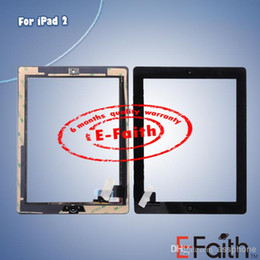 Wholesale For iPad new Touch Screen Digitizer replacement home button adhesive free DHL shipping