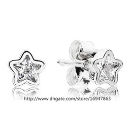 High-quality New 100% S925 Sterling Silver Stud Earrings European Style Jewelry Starshine Earrings with Cz
