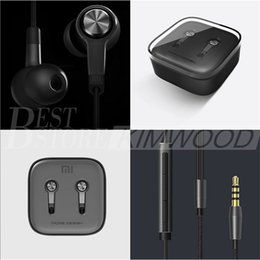 Wholesale Newest Original Xiaomi Piston Earphone mm Xiaomi Standard Edition Bass Earphones Headset With Remote Mic Retail Package Free DHL