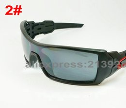 Wholesale-Men's Outdoor Sports Wind Goggle Sunglasses Resin lenses Oil Rig Designers Sun Glasses 9 color Eyewear Excellent quality