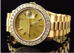 Wholesale Luxury WATCHES Top quality Presidential k Yellow Gold Diamond Watch Automatic Mens Men s Watch Watche Man Wristwatch