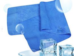Bufanda para el frío en Línea-200pcs / lot al por mayor del deporte al aire Ejecución de hielo fresco frío Soportando la toalla de la bufanda de enfriamiento del cojín frío