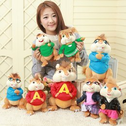 Wholesale new arrival toys plush soft toys ALVIN AND THE CHIPMUNKS for christmas toys cm size