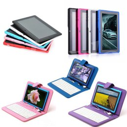 Wholesale 7 quot Allwinner A33 Quad Core Q88 Tablet PC Android GHz GB RAM GB ROM Bluetooth Wifi Colors