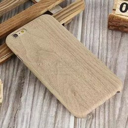 Wholesale Luxury Wooden Pattern PU Leather Cover For Apple iPhone Case Wood Grain Soft Back Shell For iphone6 Pouch Mobile Phone Bag