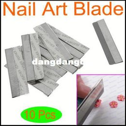 Wholesale-1pack 10pcs pack Stainless Steel Nail Art Decorating Fimo Polymer Clay Canes Rods Razor Blade Cutter free shipping407