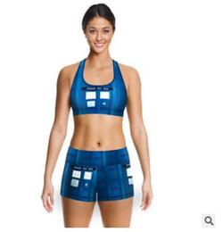 Wholesale 13 Design Women Sport Clothes Sets D Printed Women Sportswear Sets Outfits Sport Tank Top Fitness Shorts Pants Sets Sport Wear