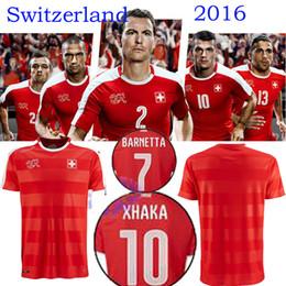 Wholesale Thai qualite Switzerland Euro Soccer jersey LICHTSTEINER home red BARNETTA XHAKA Switzerland football shirt jersey