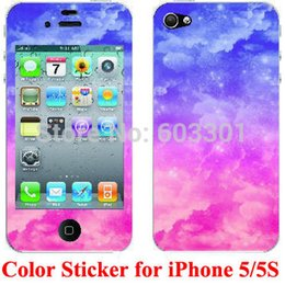 Wholesale-For iPhone 5 5S Color Skin, Color Sticker for iPhone 5 5s, Retail Packing