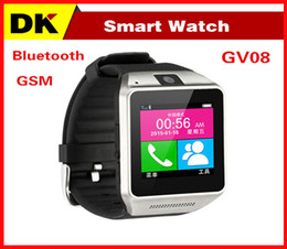 Wholesale 2015 New Smart Bluetooth Watch GV08 for Android Smart Phone Wrist Watches With MP Camera Support SIM Card GB TF Card Anti lost