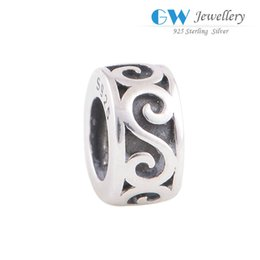 Wholesale Mermaid charms sterling silver beads S925 best quality GW brand fits DIY bracelets T109I6