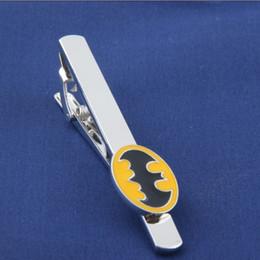 Wholesale Movie Jewelry New Fashion Marvel Avengers Metal Tie Clip Super Hero Yellow Batman Tie Clips Men s Jewelry Tie Clips Accessories