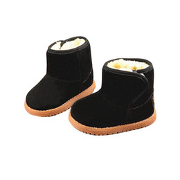 New Thicken Warm Plush Child Boots Shoes For Baby Toddler Shoes Winter Boys Girls Snow Boots Shoe Soft Suede Kids Ankle Bootie