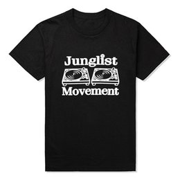 Wholesale Drum and Bass Clubbing Turntables Decks Music DNB Man Junglist Movement T Shirts MenCotton O Neck Mens tshirt Tops Tees