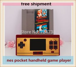 Wholesale 2015 newest free shipment nes portable handheld game player cartridge Rom USversion IN1 games include