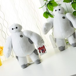 Descuento superhéroes juguetes de peluche Súper Héroes niños de juguete Baymax Robot Stuffed Plush Toys Big Hero 6 Regalos de Navidad para Niños Niños Muñeca 5 diseños surtidos