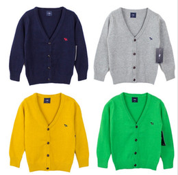 Wholesale 2016 Spring Boys Gilrs Long Sleeve Crochet Cardigans Children Button Cardigan Tops Kids Clothes Jacket Outwear Baseball Overcoat K6258