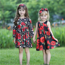 Pettigirl Hot Sale Fall Girls Flower Dress With Rose Flowers And Sash Baby Girls Dresses Kids Designer Clothes Girls GD80810-65F