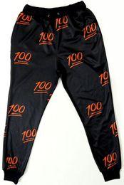 FG1509 Women Men Fashion 3D cartoon Iphone Face Emoji 100 E Joggers Sweatpants Leisure pants Sport Slacks Trousers
