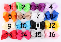 Hot High Quality Grosgrain Ribbon Flowers With Clips Baby Boutique Hair Bows Girl Barrettes Hair Accessories For Photography Props