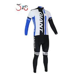 Compra Online Pro invierno baberos de ciclismo-Invierno mangas largas jerseys de ciclo GIGANTE Pro Team ciclo de la bicicleta maillots ropa de ciclo del desgaste de los pantalones del babero conjuntos S - 4XL