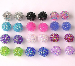 Wholesale Mixed Random Color MM Resin Shamballa Beads Ball Chunky Beads for Bracelet Necklace DIY Basketball Wives JewelryJewelry