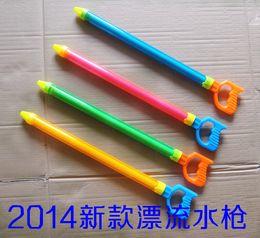 Wholesale Great swimming toy gun drifting pen barrel pull out water fight water gun children beach toys