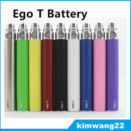 EGO Battery for Electronic Cigarette E cig EgoT 510 Thread match CE4 atomizer CE5 clearomizer CE6 650mah 900mah 1100mah 9 Colors Free DHL