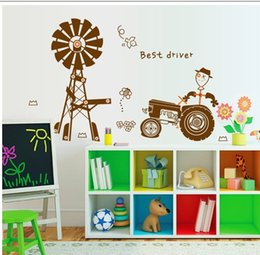 Wholesale New Cartoon Best Driver wall stickers Kids Nursery wall decals ZY6038 Removable children room Decor Decals Home Mural