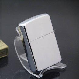Wholesale Special mirror plate bright chrome kerosene lighter lighters in advertising preferred cigarette lighter Metal lighters