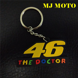 Wholesale New MOTO GP VR46 THE DOCTOR PVC Rubber Key rings Motorcycle Keychain Soft Moto Fans Souvenir Collectibles For valentino Rossi